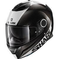 Shark Bukósisak Spartan Carbon Skin Carbon-White-Silver-DWS