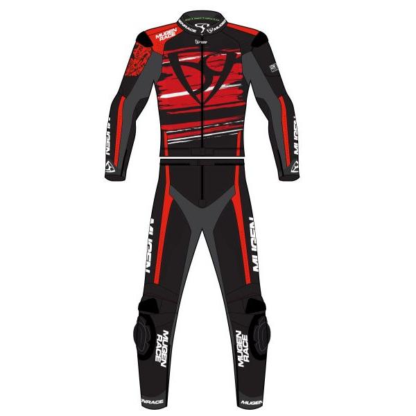 Mugen Race Motoros Bőrruha 2008 2részes Fekete-Fehér-Piros