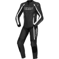 FLM Sports egyrészes motoros bőrruha fekete-fehér