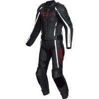 FLM Sports kétrészes motoros bőrruha fekete-fehér