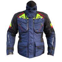 Mugen Race Motoros Textil Kabát 2099 Fekete-Kék-Fluo