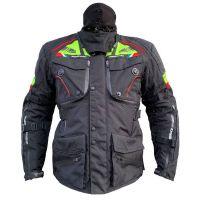 Mugen Race Motoros Textil Kabát 2099 Fekete-Fluo