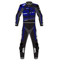 Mugen Race Motoros Bőrruha 2008 2részes Fekete-Fehér-Kék