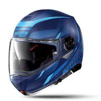 NOLAN Bukósisak N100-5 Lumiére N-COM Flat Imperator Blue 40