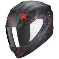 Scorpion Bukósisak EXO-1400 Air Asio Matt Black - Red