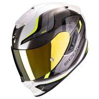 Scorpion Bukósisak EXO-1400 Air Attune White - Neon Yellow