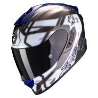 Scorpion Bukósisak EXO-1400 Air Spatium White - Blue