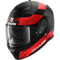 Shark Bukósisak Spartan STRAD Mat Black -Red-Anthracite-KRA
